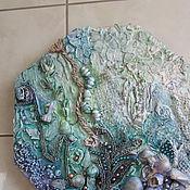 """Картины и панно ручной работы. Ярмарка Мастеров - ручная работа Панно  """"Изумрудное море"""". Handmade."""