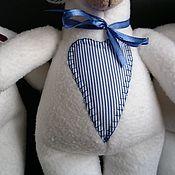 Куклы и игрушки ручной работы. Ярмарка Мастеров - ручная работа овечка белая. Handmade.