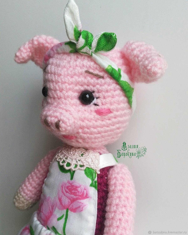 Вязаная игрушка амигуруми - Свинка Марфуша