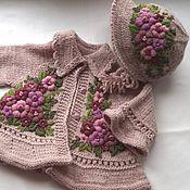 Работы для детей, ручной работы. Ярмарка Мастеров - ручная работа Комплект одежды для куколки-девочки Сирень. Handmade.