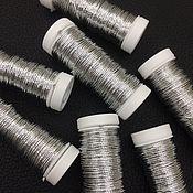 Нитки ручной работы. Ярмарка Мастеров - ручная работа Metallics GIMP 36, цвет G101, металлизированный шнур Au Ver a Soie. Handmade.
