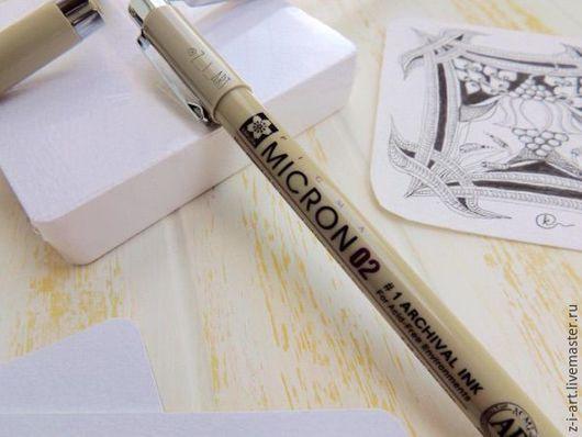 Карандаши, ручки ручной работы. Ярмарка Мастеров - ручная работа. Купить Линер Лайнер Pigma Micron. Handmade. Черный, ручка