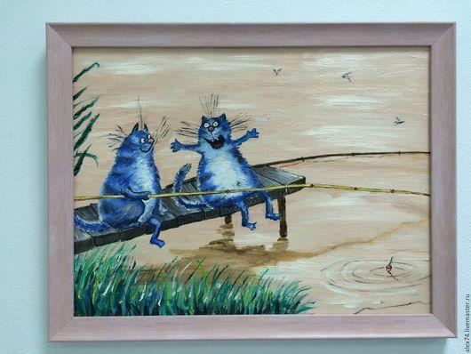 Коты на рыбалке