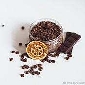 Косметика ручной работы handmade. Livemaster - original item The hydrophilic sugar salt scrub for body, feet Chocolate cappuccino. Handmade.