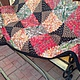 Текстиль, ковры ручной работы. Лоскутное покрывало из павлопосадских платков. Ирина Дементьева. Интернет-магазин Ярмарка Мастеров. Павлопосадский платок