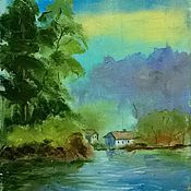 Картины и панно ручной работы. Ярмарка Мастеров - ручная работа На озере. Handmade.