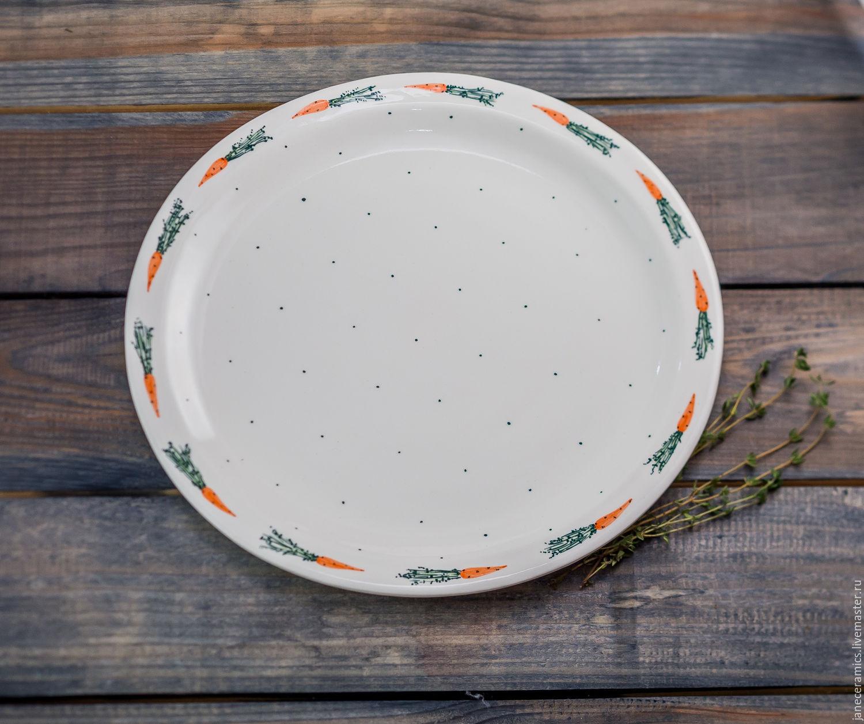 Dance of carrots :) Handmade plate, ceramics, Plates, Zhukovsky,  Фото №1