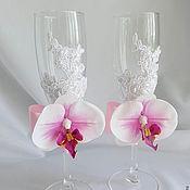 Свадебный салон ручной работы. Ярмарка Мастеров - ручная работа Бокалы Орхидея. Handmade.