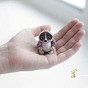 Куклы и игрушки ручной работы. Ярмарка Мастеров - ручная работа мама и дочка-лемурчики..). Handmade.