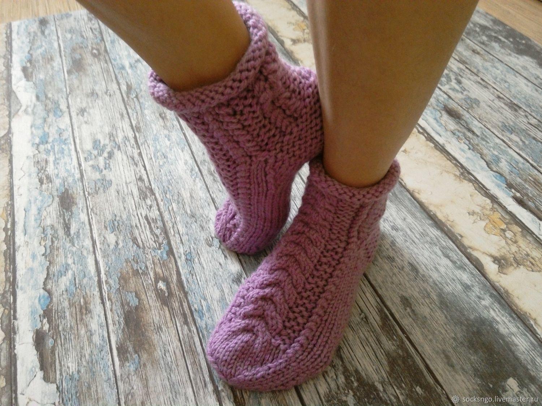 вязаные следки носочки спицами фиолетовые картинки запросу майка