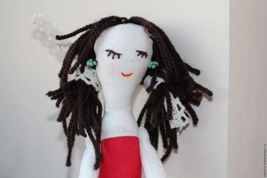Коллекционные куклы ручной работы. Ярмарка Мастеров - ручная работа. Купить Авторская интерьерная кукла Фифочка.. Handmade. Ярко-красный