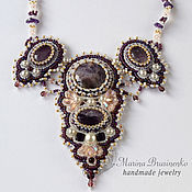 Украшения handmade. Livemaster - original item Necklace of beads and stones Amethyst dreams white purple. Handmade.