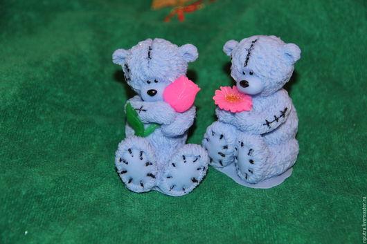 Персональные подарки ручной работы. Ярмарка Мастеров - ручная работа. Купить мишка тедди  с цветком. Handmade. Мишка с тюльпаном