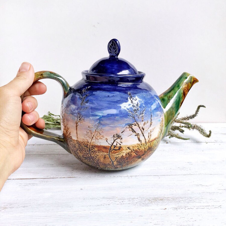 Чайник керамический «Закат», Чайники, Балашиха,  Фото №1