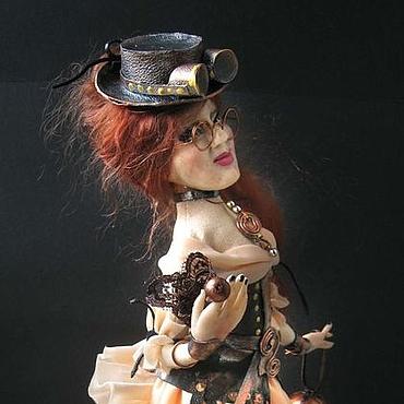 Куклы и игрушки ручной работы. Ярмарка Мастеров - ручная работа Девушка с зонтиком. Handmade.