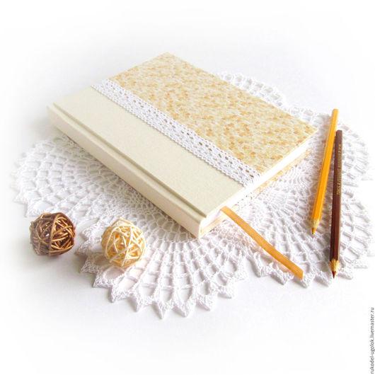 """Блокноты ручной работы. Ярмарка Мастеров - ручная работа. Купить Блокнот для эскизов """"Песочный"""". Handmade. Блокнот с нуля, блокнот для рисования"""