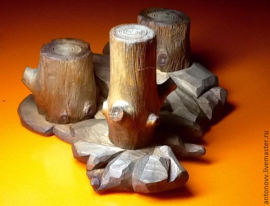 Подсвечники ручной работы. Ярмарка Мастеров - ручная работа. Купить Подсвечник деревянный. Handmade. Подарок, свеча, ручная авторская работа