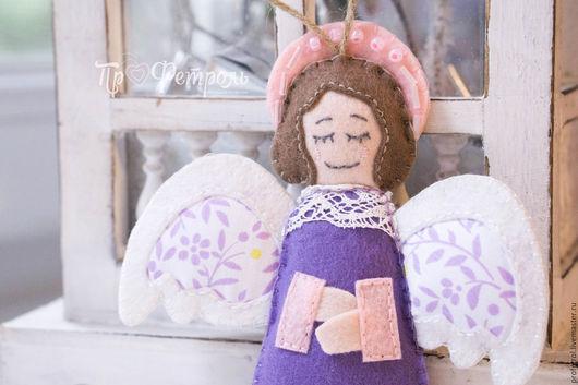 """Куклы Тильды ручной работы. Ярмарка Мастеров - ручная работа. Купить Мастер-класс игрушка из фетра """"Ангелок"""", выкройка. Handmade."""