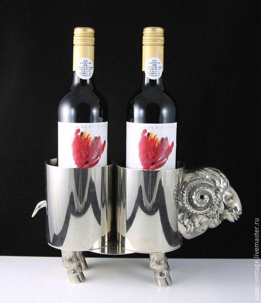 Винтажные предметы интерьера. Ярмарка Мастеров - ручная работа. Купить Подставка для пары бутылок - Италия 1970. Handmade. Подставка для вина