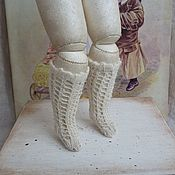 Куклы и игрушки ручной работы. Ярмарка Мастеров - ручная работа Гольфы для Fashion Doll № 105. Handmade.