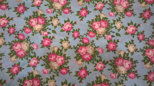 Шитье ручной работы. Ярмарка Мастеров - ручная работа. Купить Ткань Хлопок Б№28 плательный  в цветочек  для сарафанов, юбок. Handmade.