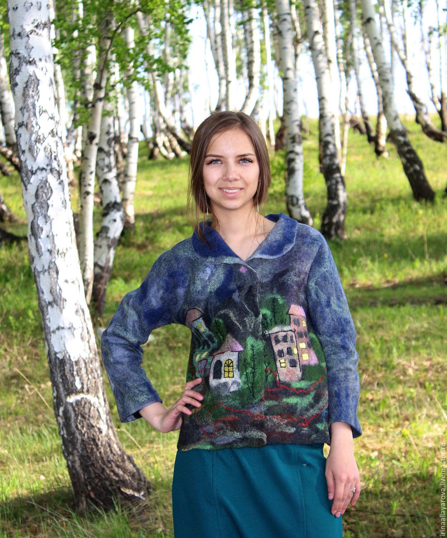 Felted jacket 'Evening city', Suit Jackets, Verhneuralsk,  Фото №1