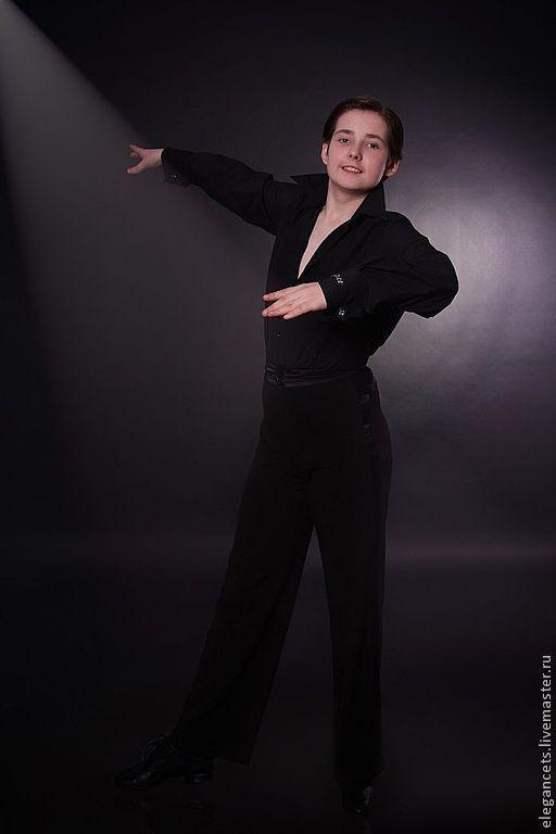 Танцевальные костюмы ручной работы. Ярмарка Мастеров - ручная работа. Купить Очень лаконичная рубашка и брюки для юниора.. Handmade.