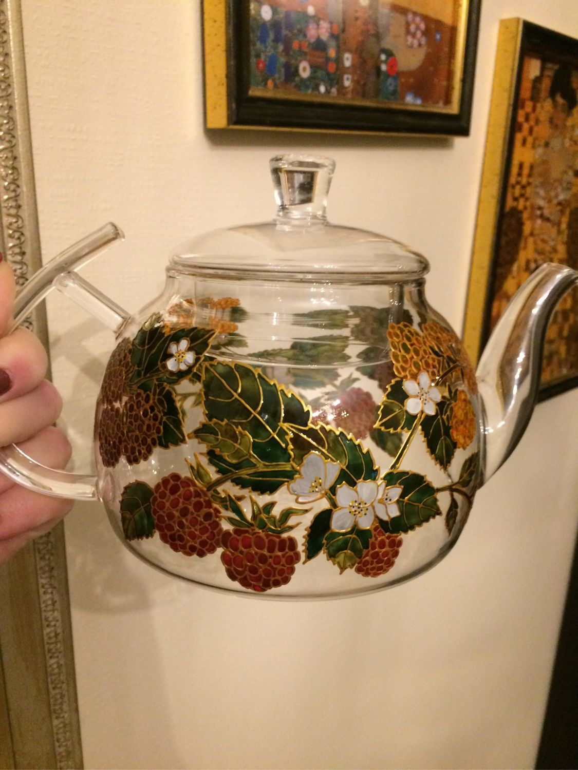 Teapot with painting Crimson summer, Teapots & Kettles, Moscow,  Фото №1