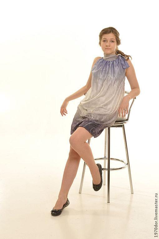 Платья ручной работы. Ярмарка Мастеров - ручная работа. Купить платье Виола. Handmade. Сиреневый, платье, летняя одежда