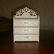 handmade. Livemaster - original item Furniture for dolls: Doll dresser 1525. Handmade.