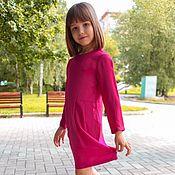 Работы для детей, ручной работы. Ярмарка Мастеров - ручная работа Малиновое платье для девочки 3,4,5,6 лет. Handmade.