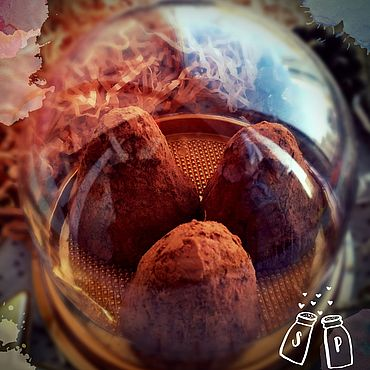 Косметика ручной работы. Ярмарка Мастеров - ручная работа Скрабы: Шоколадно-кофейный скраб-трюфель. Handmade.