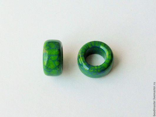 Для украшений ручной работы. Ярмарка Мастеров - ручная работа. Купить Бусина,керамическая,отверстие 10 мм,БКЖ12. Handmade.