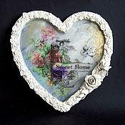 Для дома и интерьера handmade. Livemaster - original item Wedding tray-panel photo frame