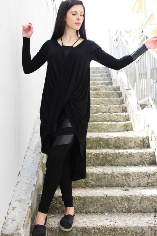 """Кофты и свитера ручной работы. Ярмарка Мастеров - ручная работа. Купить Туника """"Twisted Line-black-"""" B0053. Handmade."""
