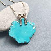 Украшения handmade. Livemaster - original item Pendant with turquoise