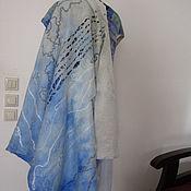 Одежда ручной работы. Ярмарка Мастеров - ручная работа Жилет валяный нуно-войлочный Голубая мечта. Handmade.