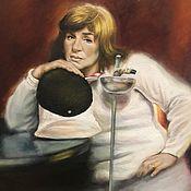 Картины ручной работы. Ярмарка Мастеров - ручная работа Портрет Аллы Горлиной. Handmade.