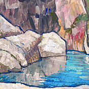 Картины и панно handmade. Livemaster - original item Oil painting. Landscape. Gorge. Sochi. Handmade.