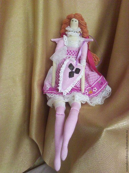 Текстильная интерьерная кукла в стиле тильда. Оригинальный подарок для любого возраста, украсит интерьер, принесет радость, покой и уют в ваш дом.