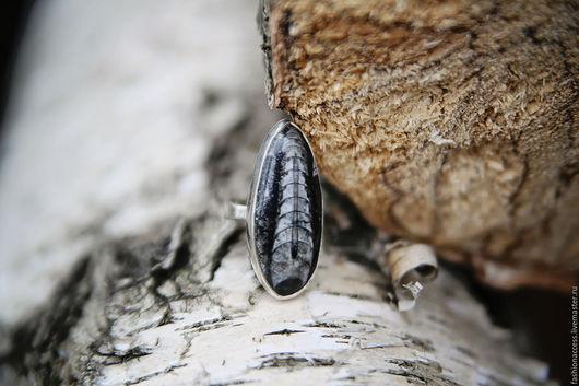 """Кольца ручной работы. Ярмарка Мастеров - ручная работа. Купить Кольцо """"Древность"""" с натуральным ортоцерасом в серебре 925 пробы. Handmade."""