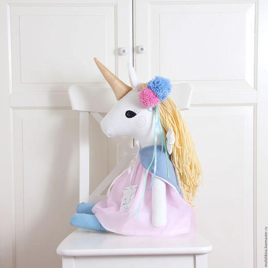 Игрушки животные, ручной работы. Ярмарка Мастеров - ручная работа. Купить Едирог лошадка игрушка для девочки. Handmade. Бледно-розовый