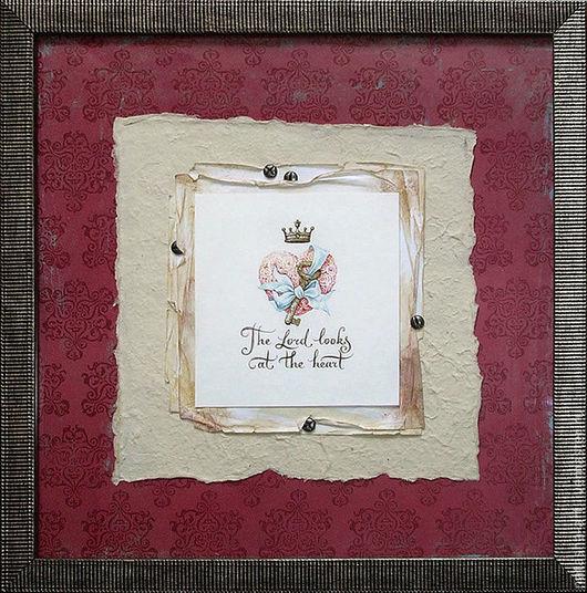 Символизм ручной работы. Ярмарка Мастеров - ручная работа. Купить Бог смотрит в самое сердце. Handmade. Белый, розы, каллиграфия