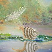 """Картины и панно ручной работы. Ярмарка Мастеров - ручная работа картина маслом """"Дама под зонтиком"""". Handmade."""