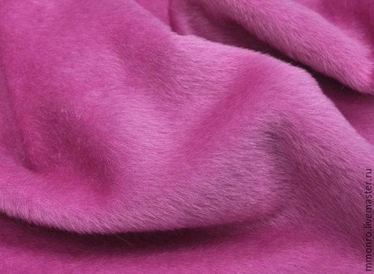 Шитье ручной работы. Ярмарка Мастеров - ручная работа. Купить Ткань для натуральной шубки, (альпака, шерсть) розовый. Handmade. Ткань
