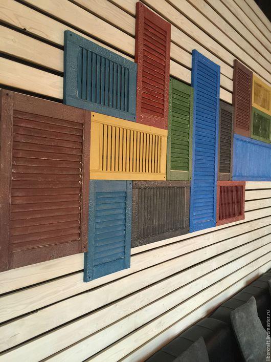Комплекты аксессуаров ручной работы. Ярмарка Мастеров - ручная работа. Купить Решетка деревянная декоративная Loft. Handmade. Ярко-красный