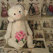 Куклы и игрушки ручной работы. Ярмарка Мастеров - ручная работа обезьянка тедди White Rose. Handmade.