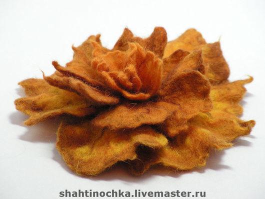 Brooches handmade. Livemaster - handmade. Buy Brooch 'Autumn nostalgia'.Brooch, the author's work, brooch in flower shape