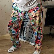 Одежда ручной работы. Ярмарка Мастеров - ручная работа Цветные штаны (готовая работа). Handmade.