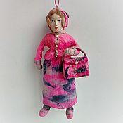 Сувениры и подарки handmade. Livemaster - original item Christmas toy: lady. Handmade.